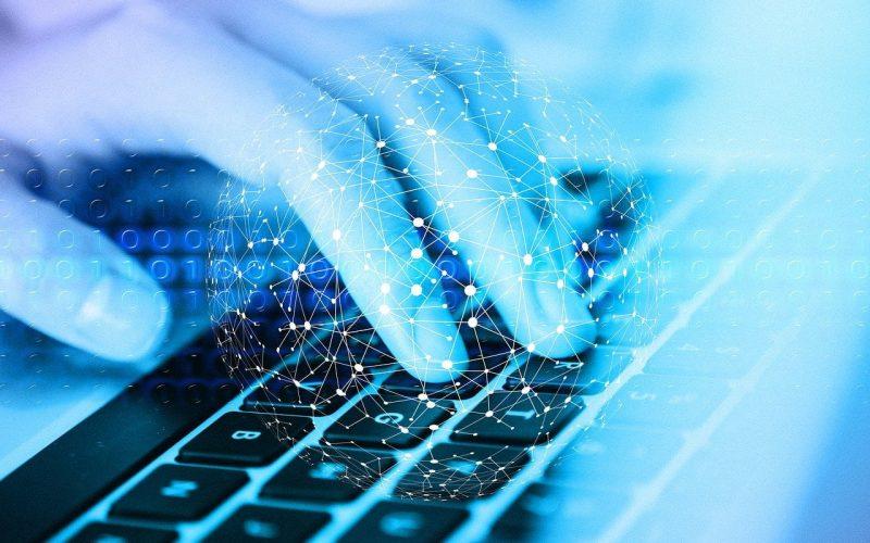 network, keyboard, hand